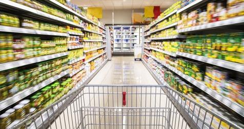 caddie supermarché - faire courses d'alimentation -budget famille