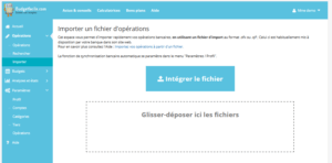 "Page ""Importer"" - Application Budget facile - Budgetfacile.com"