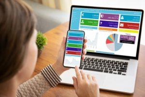 affichage de l'appli budget sur PC et mobile